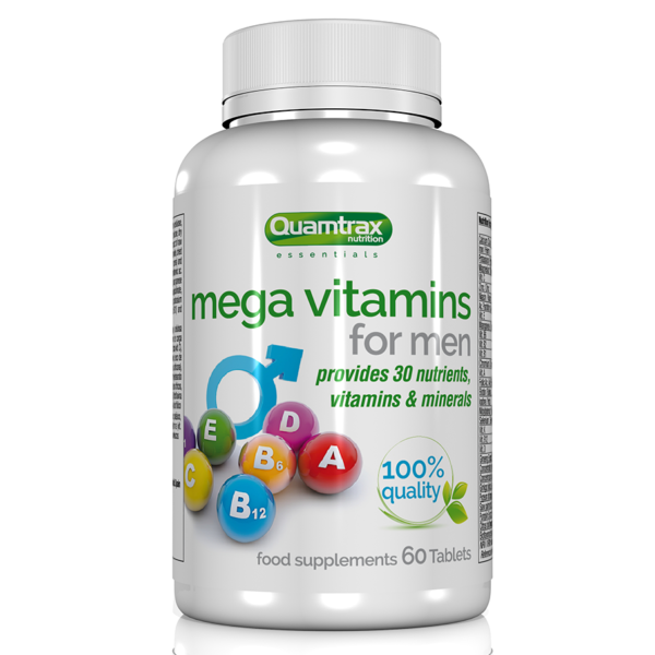 Quamtrax Nutrition Mega Vitamins For Men – 60 Tablets