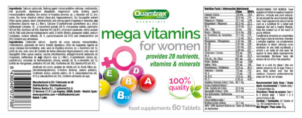 Quamtrax Nutrition Mega Vitamins For Women – 60 Tablets